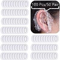 Eastern Eagle Clear Disposable Ear Protectors Waterproof Ear Covers for Hair Dye, Shower, Bathing (100 pcs)