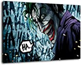 Batman Format 100x70 cm Bild auf Leinwand, XXL riesige Bilder fertig gerahmt mit Keilrahmen, Kunstdruck auf Wandbild mit Rahmen