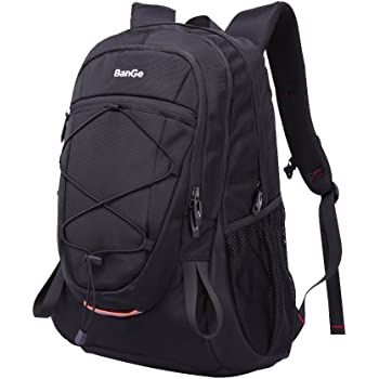 40L Mochila Hombre Senderismo Deporte Viaje Grande Trekking Mujer Trabajo Casual Backpack Antirrobo Impermeable Camp Caminata Portátil Bolsa Mochila, Negra