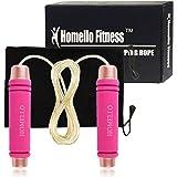 Homello Springseil - Speed Jump Rope Verstellbare mit Hautfreundlichen Schaum Griffe und Stahl Seil für Fitness und Boxen - Inklusive Tragebeutel