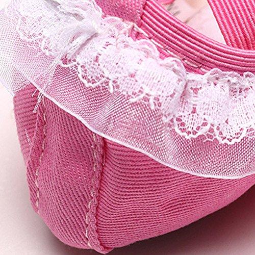 Zhuhaitf Girl Freizeit Gymnastics Dance Canvas Ballet Shoes KMG51003 Pink
