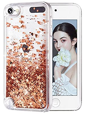 wlooo Coque Apple iPod Touch 6 5 Glitter Case Liquide Clear Étui par wlooo