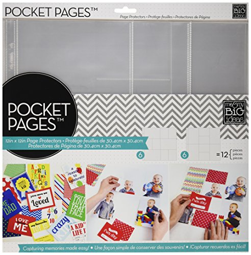 Unbekannt Me & My Big Ideas Kunststoff Pocket Seiten Bildschirmschutzfolien 12Zoll x 12-inch-Assortment # 1