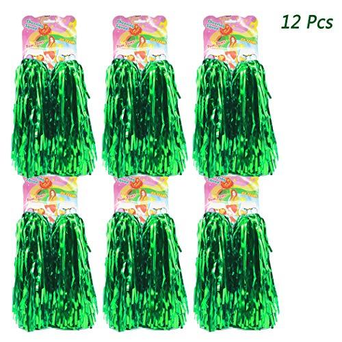 ng Pom Poms - Ultra Shining Pom Pom Cheerleader Puschel Tanzpuschel Party Sport Fußball Zubehör (Grün) ()