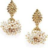 Zaveri Pearls Antique Gold Tone Traditional Jhumki Earring For Women-ZPFK7450