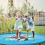 Neusky Wassermatte Sprinkler und Splash Play Matte, Sommer Garten Wasserspielzeug für Baby, Kinder...