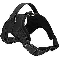 Pedigone Dog Belt Padded Dog Harness Adjustable Neck Strip & Chest Strip Dog Harness (Black, Large)