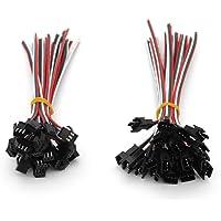 VIPMOON 20Pairs JST SM 3PIN Plug Mâle à Femelle EL Câble Câble Connecteur Adaptateur