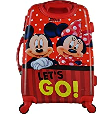 """GAMME Polycarbonate 20"""" Red- Disney Mickey & Minnie Hard Sided Children's Luggage"""
