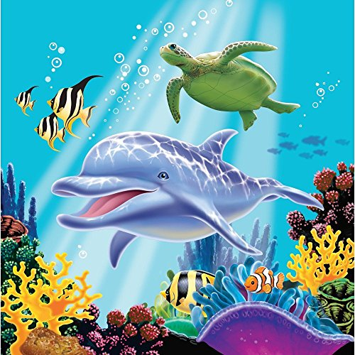 N PARTY * für Kindergeburtstage oder Motto-Partys // Geburtstag Party Napkins Ozean Meer Clownfisch Fisch Korallen ()