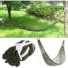 TRIXES Hamaca militar pequeña de nailon para dormir o relajarse en un camping, en el jardín o en una aventura de supervivencia.