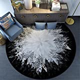 LIUXINDA-DT 100 * 100cm präzise modernen runde Teppich/Computer Stuhl Teppich/Tee Tabelle Teppich/Schlafzimmer Teppich/Wohnzimmer Teppich,100cm 100 *,schwarz