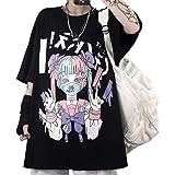 Vocha Y2k Aesthetic T Shirt Anime Manga Gothique Vintage Punk Vêtement, Kawaii Tee Shirt Ado Fille Egirl