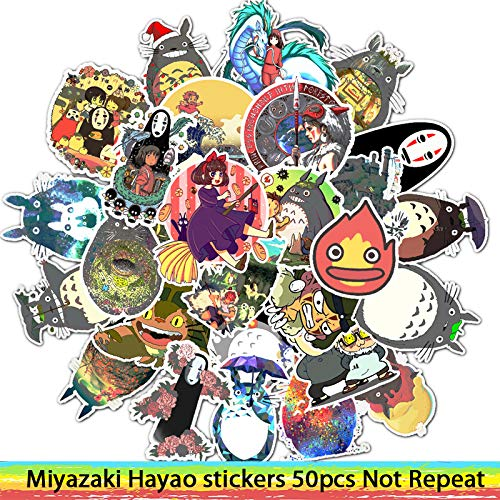 50pcs Adesivi Miyazaki Hayao Anime Adesivo Il Mio Vicino Totoro/Spirited Away per Skateboard Laptop Bicycle Waterproof Decals