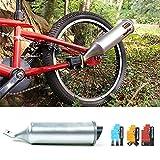 Waroomss Sistema de Escape de Bicicleta Turbospoke, Tubo de Escape de Bicicleta Motor de Escape de Motor de Escape con 3 Sonidos de Motocicleta Turbo Ajustable.