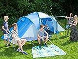 Skandika Daytona XXL blau, hellblau Familien-Zelt für 6 Personen, wasserdicht - 2