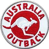 Club-of-Heroes 2 x Abzeichen gestickt 60 x 60 mm/Australien Outback/Applikation Aufnäher Aufbügler Flicken Badge Bügelbild/Iron on Patch für Kleidung Tasche Rucksack
