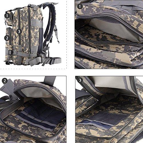 Militare Army Patrol Molle Assault Pack combattimento tattico Zaino d' idratazione zaino serbatoio d' acqua incluso, Black Python Pattern ACU