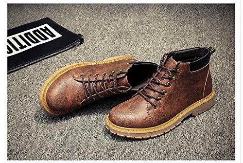 HL-PYL-uomini Martin stivali scarpe per il tempo libero per aiutare gli stivali vecchi Torna alla antica ispessimento del caldo Abbigliamento Calzature yellow