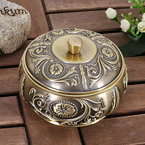 Posacenere in metallo xue, stile europeo con eleganti ornamenti di personalità di personalità di moda di lusso di lusso luxury luxury, 3.5 * 8 * 11cm