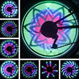 Jhua 36 LED Lights 32 Changes Mountain Bicycle Spoke Lights Cycling Bike Tire Wheel Light Double-sided Full Screen Display