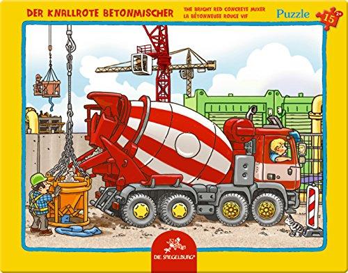 Spiegelburg 12690 Puzzle con marco que ese camión cisterna roja (15 piezas)