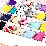 Malayas® 6 pcs Divisori per Cassetti in Plastica Organizzatore per la Casa Fai Da Te dell'organizzatore di Immagazzinaggio Bianco, 43 cm X 5 cm