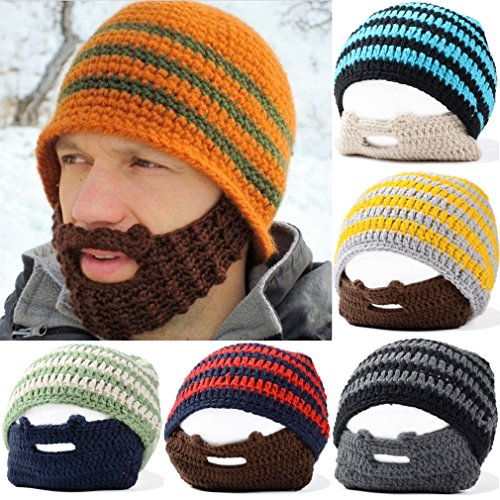 Secret-Paradise-Unisex-Winter-Knit-Hats-Beard-Beanie-Mustache-Mask-Warm-Stretch