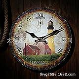 Wall Clocks Wanduhr Uhren Wecker Uhr Haushalt Pendeluhr Europäische Pastorale Europäische Gartenhaus Massivholz Kunstharzgarten weiß