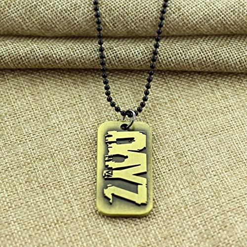 Ps4 Spiel Dayz Nacklace Dies Ist Ihre Geschichte Zombie Logo Hund Tag Anhänger Halsketten Für Männer Frauen Fans Mode Cool Zubehör (Für Zombie-outfits Frauen)