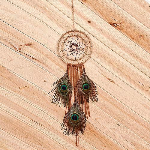 KANKOO Traumfängernetz Traumnetz Wandbehang Traumfänger Traumfänger-Spitze Zum Vorhanghängen Perlen Boho Traumfänger (Basteln Schlafzimmer Für Ihr Halloween)