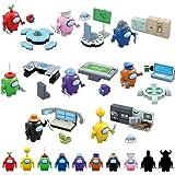 Fangteke Among Us Juguetes de Bloques de Construcción Lindas Figuras de Juegos Muñecas Bloques de Construcción Colección de J