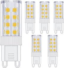 G9 LED Warmweiß 3W, Nasharia 6er LED Lampe G9 Birne 3W Ersetz 35W Halogen AC220-240V, 360°Abstrahlwinkel, Kein Flackern G9 Leuchtmittel