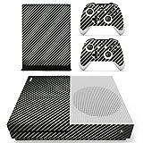 DOTBUY Xbox ONE S Design Folie Vinyl Aufkleber für Konsole + 2 Controller + Kamera Sticker Skin Set (Carbon Fiber Black)