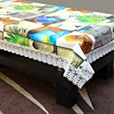 #3: STITCHNEST Dining Table Cover 4 Seater Plastic 40 X 60 Inches, Table Cover Anti Skid, Pack of 1