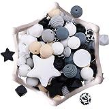 let's make DIY Siliconen Tandjes Kralen 100pc Verzorgingsaccessoires Verschillende Vormen Babykettingen/Armbanden Maken, Fops