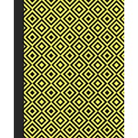 Sketchbook: Geometric Design (Yellow) 8x10 - BLANK JOURNAL WITH NO LINES - Journal notebook with unlined pages for drawing and writing on blank paper