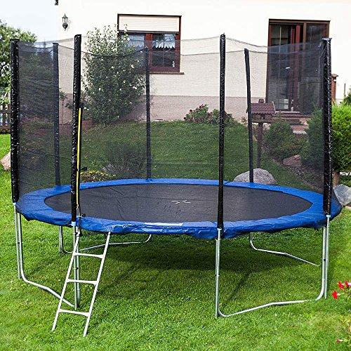 Gartentrampoline Trampoline Outdoor-Trampoline Fitness-Trampoline 305cm , inkl. Sicherheitsnetz, Schuhtasche, Bodenanker, Leiter und Abdeckplane - 4