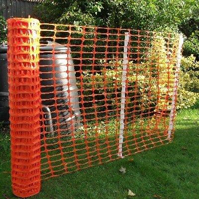 True Products b1003C Standard-Schutznetz aus Kunststoff, Rolle, Orange, 4kg 1m x 50m - 4