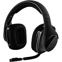 Logitech G533 Wireless Gaming-Headset, 7.1 Surround Sound, DTS Headphone:X, 40mm Pro-G Treiber, 2.4 GHz Wireless, Noise-Cancelling Mikrofon, 15-Stunden Akkulaufzeit, PC/Mac