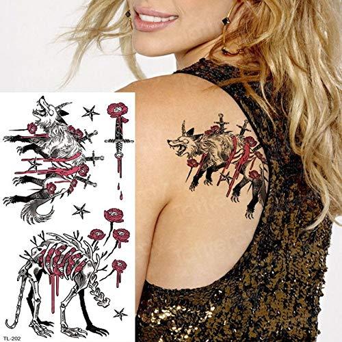 adgkitb 4 Piezas Tatuaje Manga Mujer Tatuaje Temporal Pegatinas Cuerpo Tatuajes Anime búho atrapasueños Tatuaje Agua Falsa niños Tatuaje Tigre TL202 19x9 cm