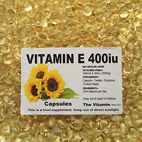 """The Vitamin VITAMIN E 400iu (268mg) 1000 capsules """"BUY IN BULK"""" FREE POSTAGE (L)"""