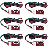 Longruner 6 x Mechanical Endstop Limit Switch with 22AWG Cable for 3D Printer Makerbot Prusa Mendel RepRap CNC Arduino Mega 2560 RAMPS 1.4