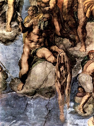 Das Museum Outlet-mit der menschlichen Haut Märtyrer von Michelangelo-Poster (61x 81,3cm) (Märtyrer-poster)