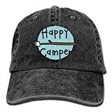 Asekngvo Baseball Cap Happy Camper 2 Men Women Snapback Casquettes Adjustable Baseball Cap Color3