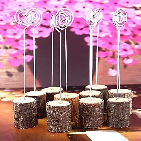 Hochzeit Kartenhalter Holz Tisch Ständer Menü Karte Clip Halterung für Hochzeit Party Dekoration Fotos/Notizen/Business Card/Karte/Nachricht Bar/Postkarte/MISSION-Memorandum (100)