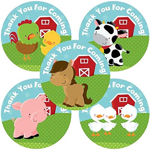 Adorebynat Party Decorations - EU Tiere auf dem Bauernhof danken Ihnen Aufkleber Aufkleber - Jungen-Mädchen-Geburtstags-Baby-Duschen-Partei liefert - Set 50