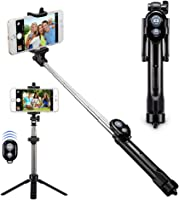 Alfort Palo Selfie, Bluetooth Selfie Stick Trípode Wireless Mini con Obturador Remoto Bluetooth para iPhone 8/7 /...