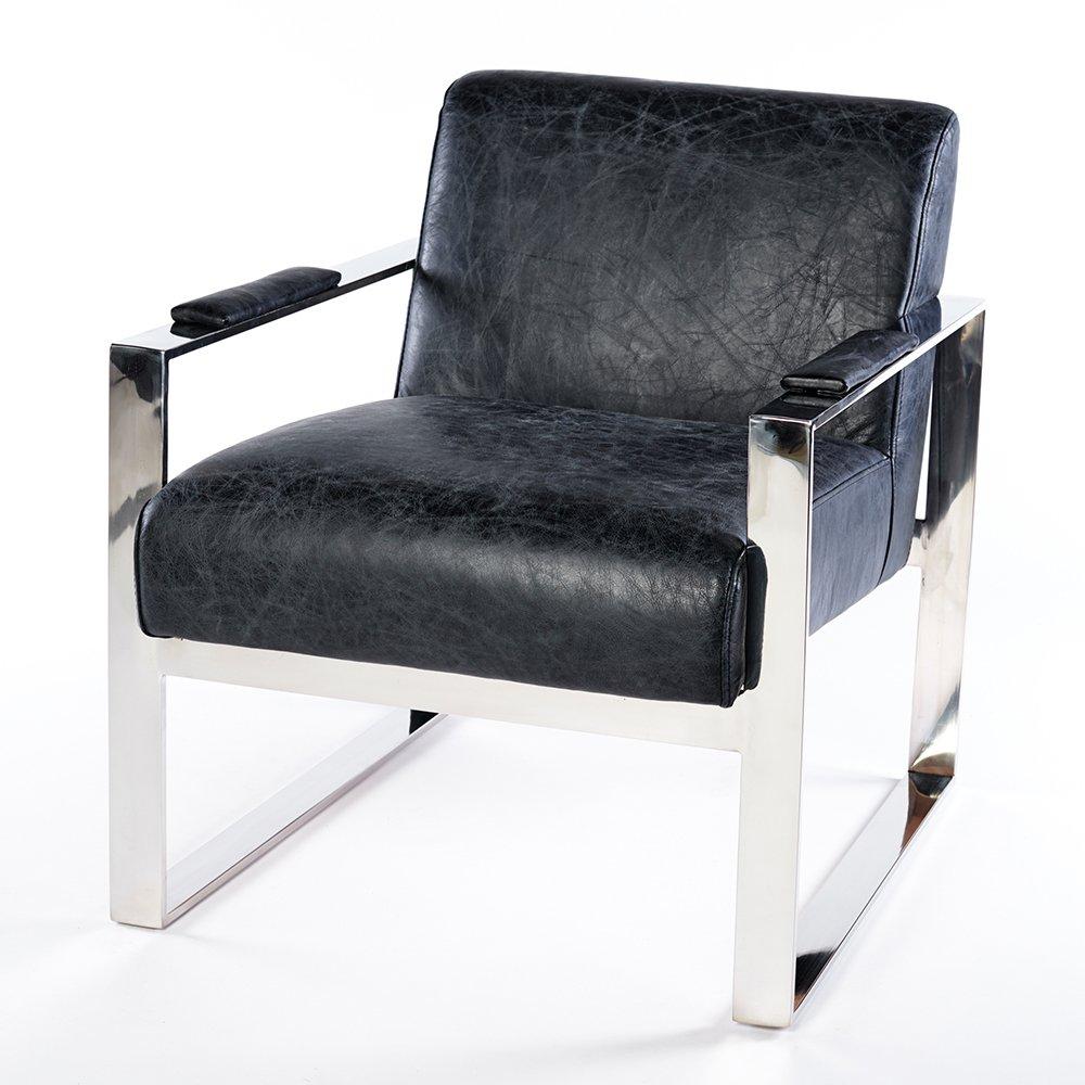 Phoenixarts Echtleder Vintage Ledersessel Schwarz Wartezimmer Sessel Retro Design 645 1