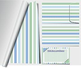 Artemisia-Design Studio by Dewangi Jhaveri Wrapper and Envelope Combo (Blue) - Pack of 10